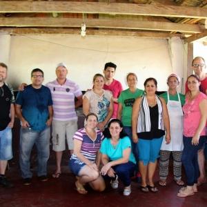 Igreja Fonte de Vida, equipe da preparação do almoço. (Foto: Portal Nova Santa Rosa)