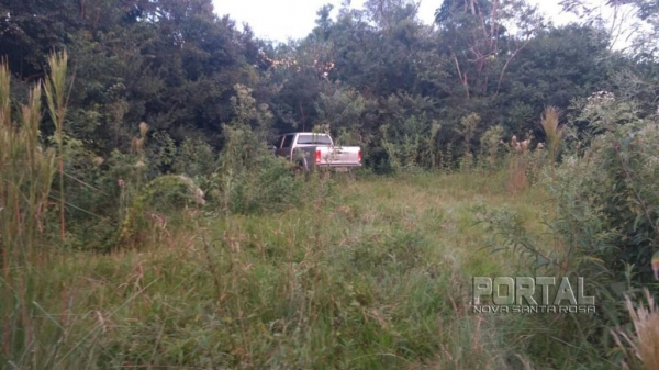 O veículo se encontrava escondido em uma mata. (Foto; PM)