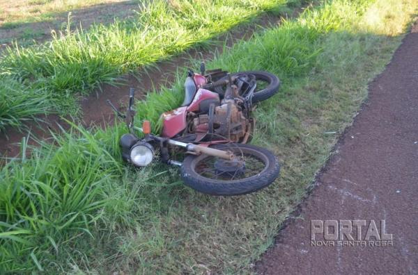 A motociclista foi socorrida e encaminhada ao Bom Jesus. (Foto: Bogoni)