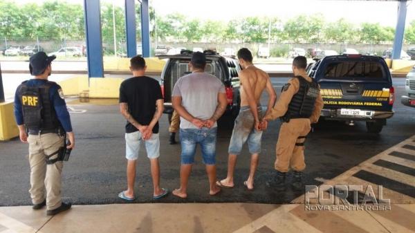 Três pessoas foram detidas. (Foto: PRF)