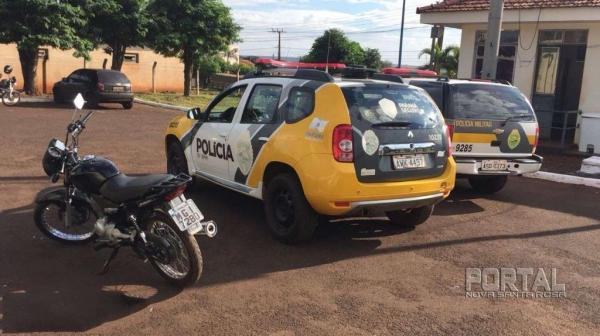 A moto recuperada foi encaminhada para a 48ª DRP. (Foto: Léo Silva)