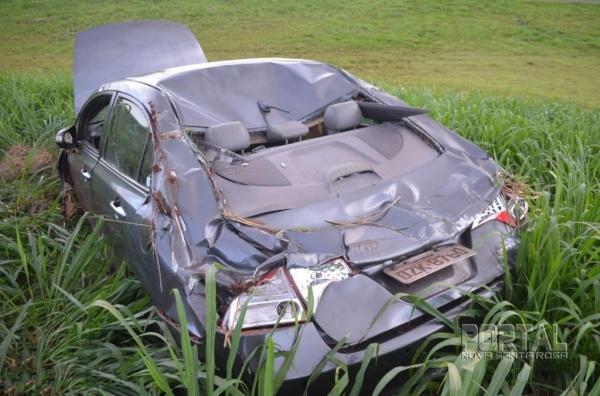 O condutor não teve ferimentos. (Foto: Bogoni)