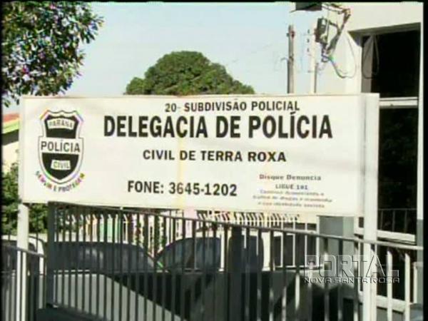 Polícia Civil de Terra Roxa. (Foto: Divulgação)