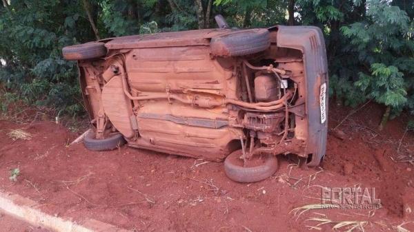 No acidente se envolveram um Uno e uma motocicleta. (Foto: Portal Palotina)