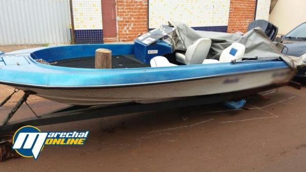 A lancha foi furtada em Itaipulândia. (Foto: Marechal On Line)
