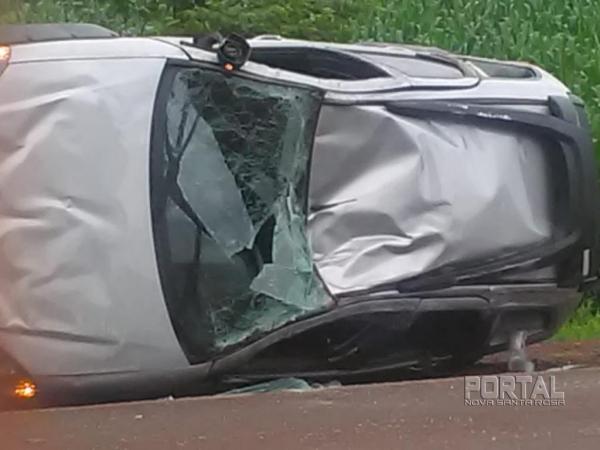 O condutor perdeu o controle. (Foto: Colaborador)