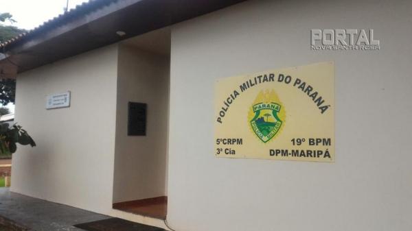 Destacamento da PM de Maripá. (Foto: Portal Nova Santa Rosa)