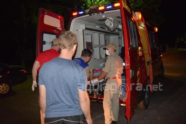 Uma pessoa ficou ferida no acidente (Foto: Jonas Kempp/AquiAgora.net )
