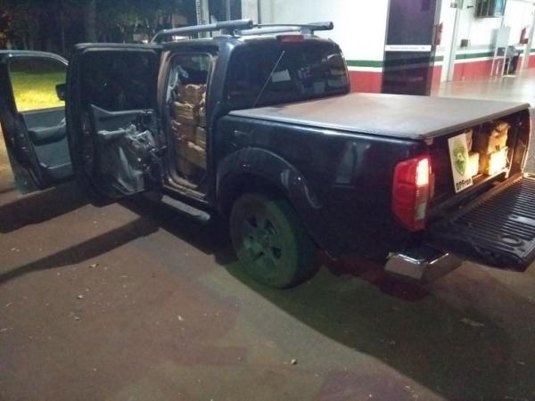 A camionte havia sido roubada em Toledo. (Foto: Assessoria)