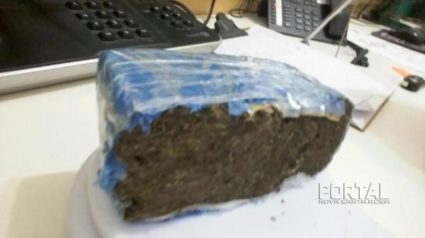 396 gramas da droga foram apreendidos