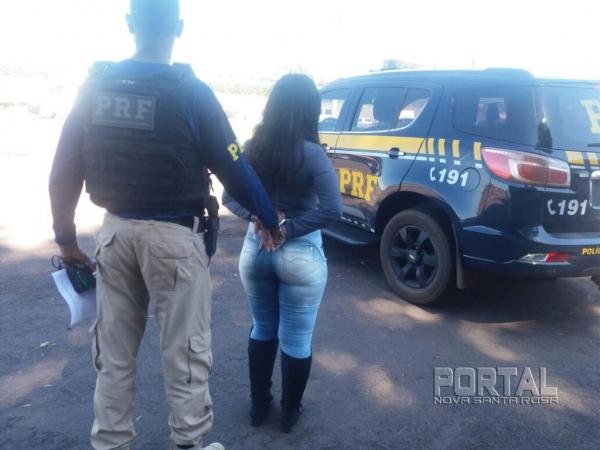 A droga segundo a moça saiu de Marechal Rondon. (Foto: PRF)