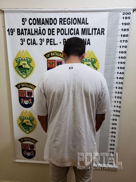 O rapaz foi detido. (Foto: PM)