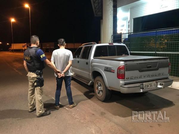 O condutor foi preso; ele teria participado do assalto. (Foto: PRF)