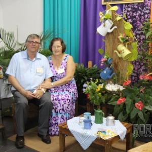 Presidente do Conselho dos Ministros e esposa, Milton Tribess e Julia Tribess. (Foto: Scheila Kunzler/ Portal Nova Santa Rosa)