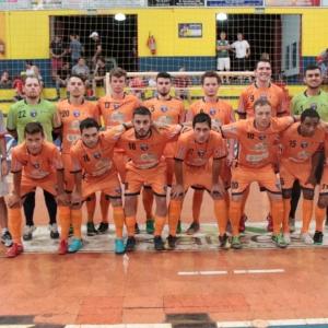 Equipe do Nova Santa Rosa Futsal. (Foto: Portal Nova Santa Rosa)