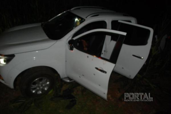 Polícias trocaram tiros com os bandidos. (Foto: Portal Palotina)