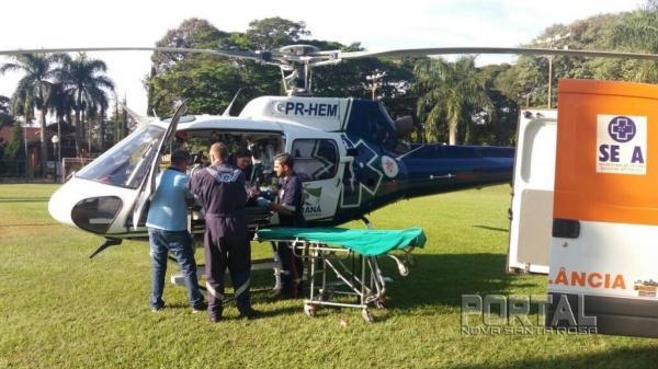 A paciente foi transferida para o Salete. (Foto: Portal Palotina)