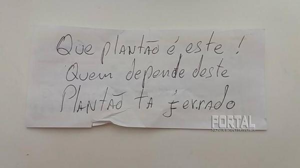 O bilhete foi deixado por um cliente. (Foto: Divulgação)