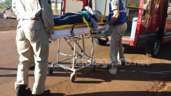 Jovem de 22 anos fica ferida após acidente em Marechal Rondon (Foto: Fernanda Bourscheidt/AquiAgora.net )