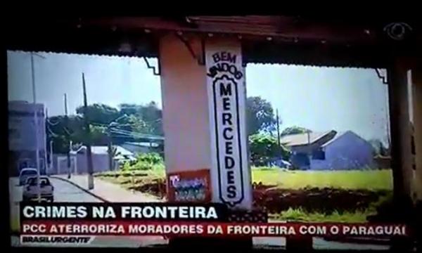 TV Band exibe reportagem sobre Mercedes e Pato Bragado (Foto: Reprodução )