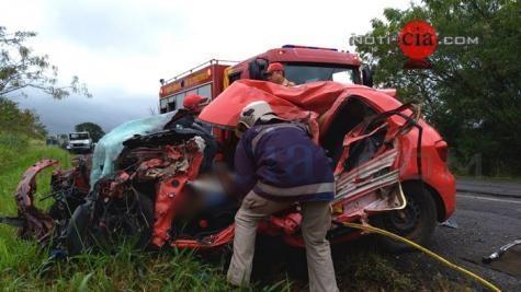 Um homem morreu e três ficaram gravemente feridos . (Foto: Noti-cia.com)