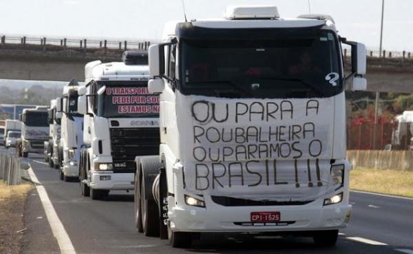 Com a greve, eles cobram o governo para reduzir a zero a carga tributária sobre o diesel. (Foto: Divulgação)