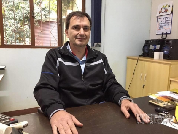 Presidente da Acinsar, Omir Hettwer. (Foto: Portal Nova Santa Rosa)
