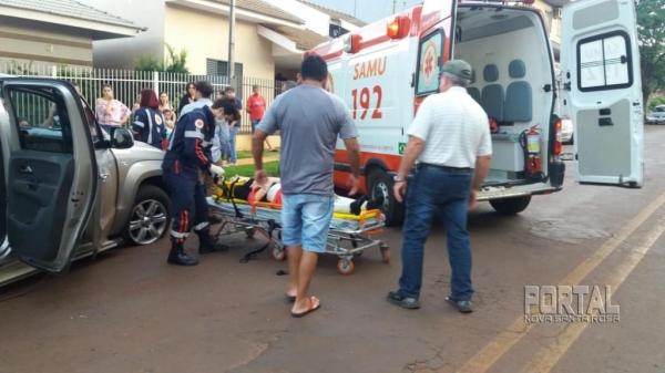 Duas pessoas ficaram feridas. (Foto: Portal Palotina)