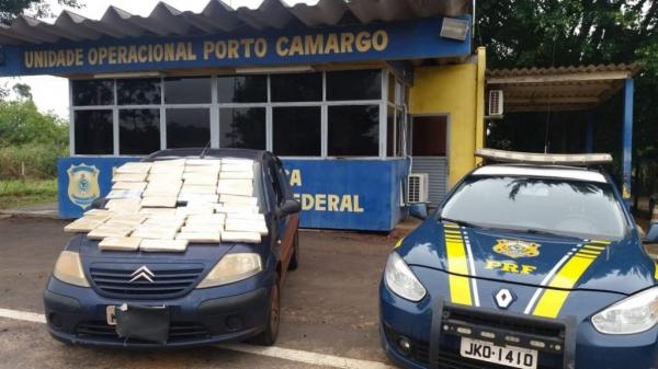 A droga saiu de Ponta Porã no MS. (Foto: PRF)