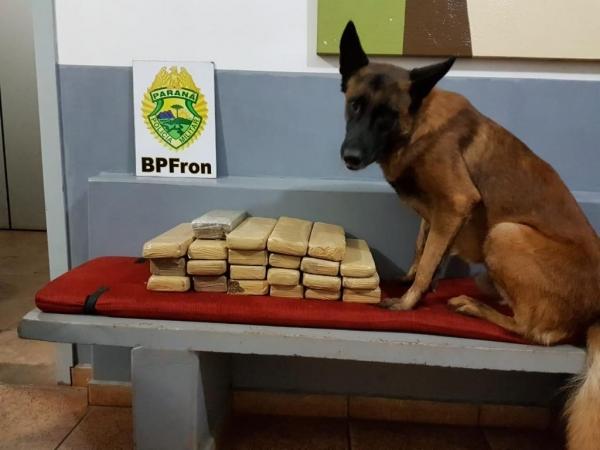 14,300 kg de maconha foi apreendida. (Foto: BPFron)