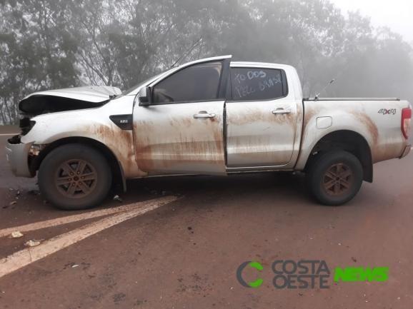 Apenas danos materiais foram registrados na Ranger. (Fotos: Carlinhos Pessoa)