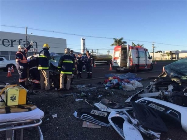 Quatro pessoas morreram no acidente (Foto: RTVCanal 38 )