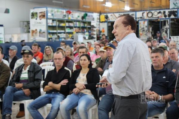 O presidente da Coamo José Aroldo Gallassini. (Fotos: Portal Nova Santa Rosa)