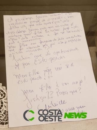 Uma carta da investigadora foi encontrada. (Foto: Portal Costa Oeste)