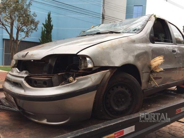 As imagens foram feitas quando o veículo passava por Marechal Rondon e um guincho. (Fotos: Portal Nova Santa Rosa)