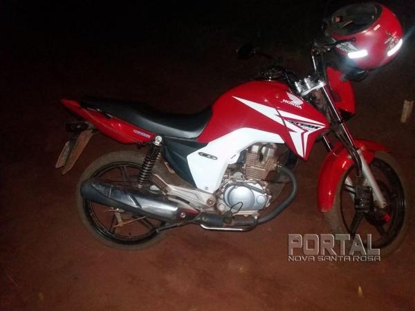 A moto foi recuperada pela PM. (Foto:PM)