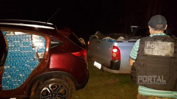 O contrabando foi carregado em Mercedes. (Fotos: Polícia Federal)