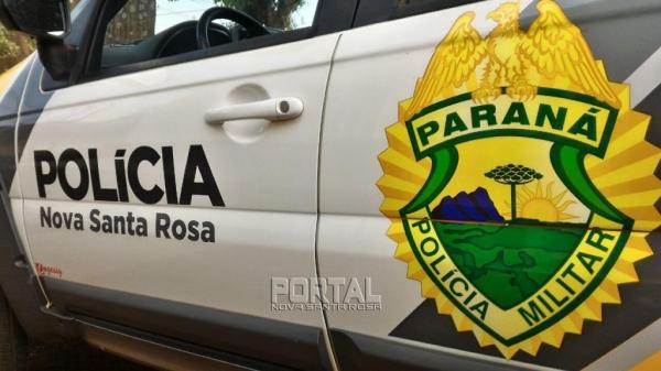 O caso foi registrado na PM. (Foto: Portal Nova Santa Rosa)