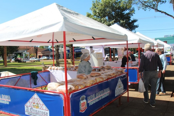 A feira iniciou as 09h00 e finalizou as 17h00.(Fotos: Portal Nova Santa Rosa)
