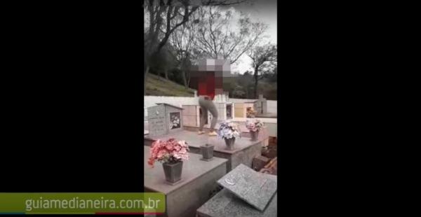 O vídeo foi feito no cemitério da Linha Jacutinga (Foto: Guia Medianeira )