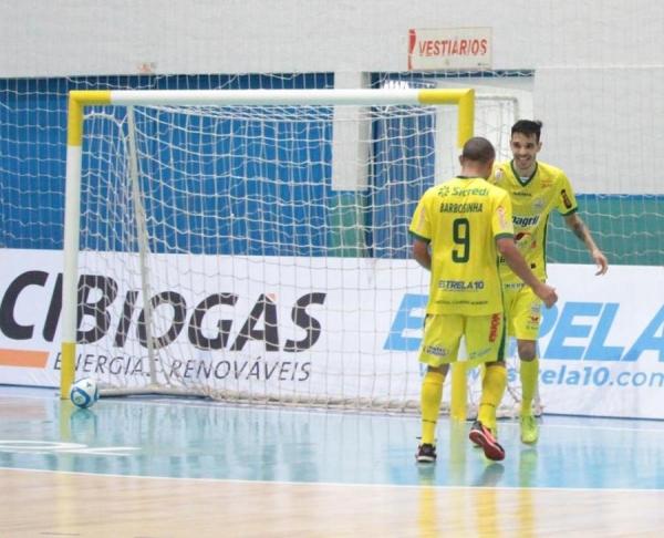 Os atletas da Copagril Futsal, junto com os demais jogadores convocados, terão dois jogos diante da Argentina. (Foto: Assessoria)