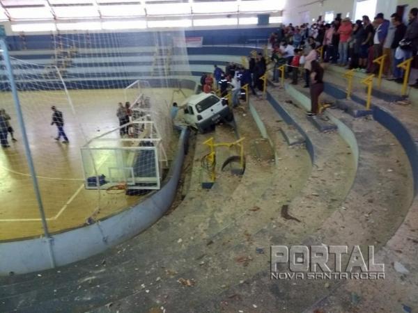 uma pessoa ficou gravemente ferida. (Foto: Portal Nova Santa Rosa)