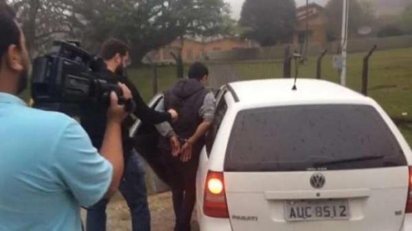 Suspeito de cometer crime foi preso (Foto: Antônio Nascimento – Banda B)