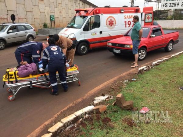 A rondonense foi encaminhada para atendimento médico. (Fotos: Marcio Cerny/Marechal News)