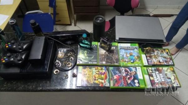 Os produtos de roubo foram recuperados pela polícia. (Fotos: Polícia Militar)