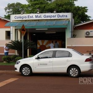 Votação no Colégio Gaspar Durtra. (Fotos: Portal Nova Santa Rosa)