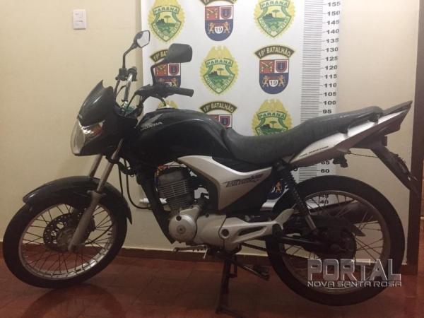 A moto foi recuperada na noite de ontem. (Foto: PM)