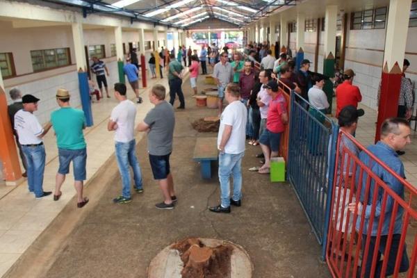 Muitas pessoas escolheram votar logo cedo. (Fotos: Portal Nova Santa Rosa)