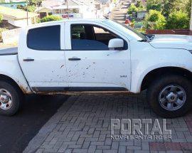 A camioneta foi roubada em  Ibiporã. (Foto: PM)