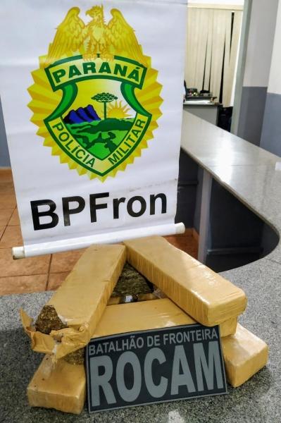 A droga totalizou 3,024 kg. (Foto: BPFron)